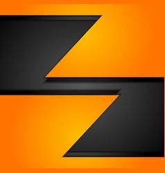 Orange corporate tech background vector image vector image