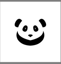 panda face icon head logo design vector image