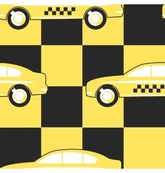 Pattern Taxi Cab Symbol on Yellow - Black vector