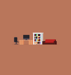 Pixel art room vector