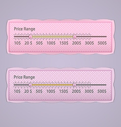 Price range design element vector