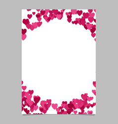 Random heart page border background design - love vector