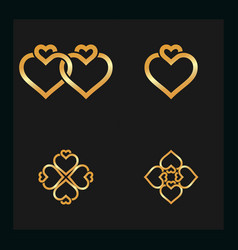 ring gold vector image