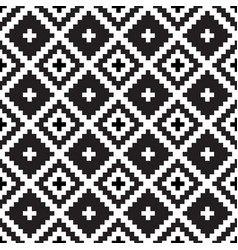Seamless tribal black and white pattern vector