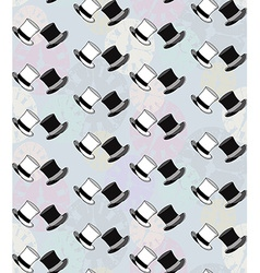 Seamless Watch Hat Pattern2 vector image