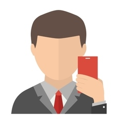 Selfie face vector image