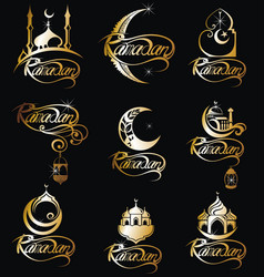 Set of ramadan emblems vector
