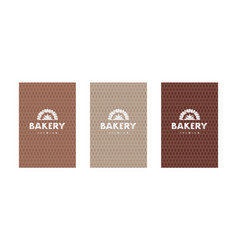 Set templates flyer for bakery vector
