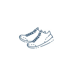 shoes tennis workout accessory flat icon vector image