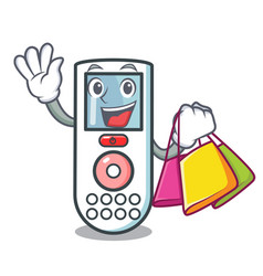 Shopping remote control character cartoon vector