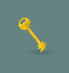 Single Golden Key vector image