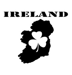symbol of ireland and maps vector image