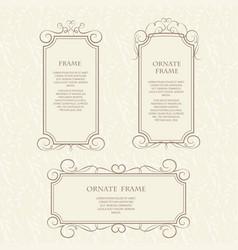 Template design frame vector