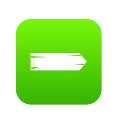 thick arrow icon digital green vector image