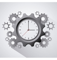Traditional clock gears and time design vector