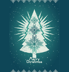 typographical retro christmas card design vector image