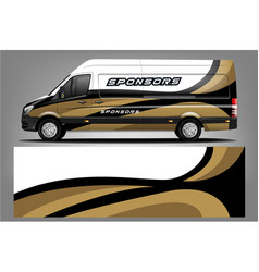 van wrap design vector image