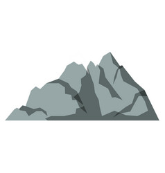 White background with gray silhouette of mountain vector