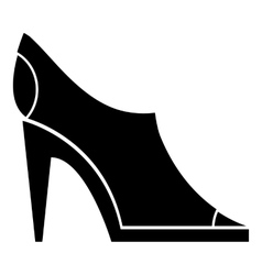 Women autumn shoes icon simple style vector