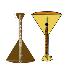 yellow balalaika vector image