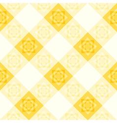 Yellow White Flower Diamond Chessboard vector image