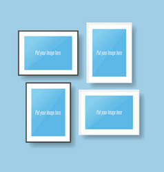 Black and white photo Frames vector image vector image
