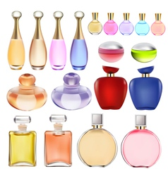 set of perfume bottles vector image vector image