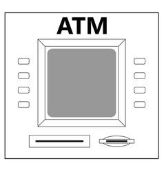 atm for cash withdrawal vector image vector image