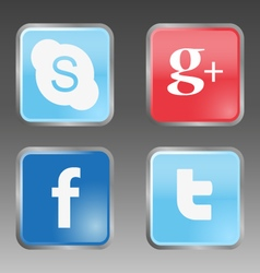 Social internet buttons vector image vector image