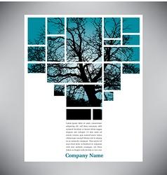 Unique tree page layout vector image vector image