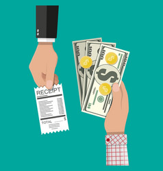 cash payments concept vector image