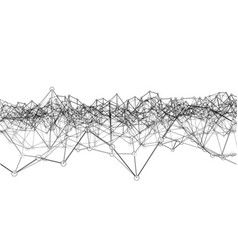 Creative social network rendering of 3d vector