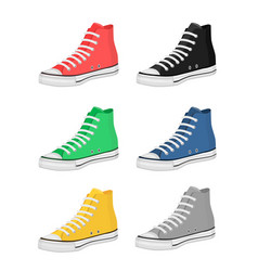 different kind of shoes vector image