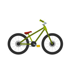 green bike icon flat style vector image vector image
