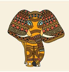 Greeting Beautiful Elephant vector image