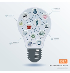Light bulb business concept vector image vector image