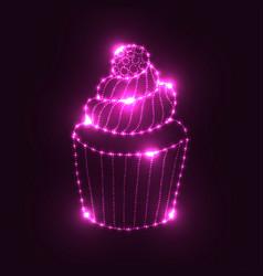 neon glowing element vector image vector image