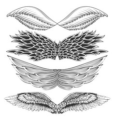 tattoo art design of different gothic wing vector image vector image