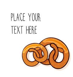 template with two pretzels vector image vector image