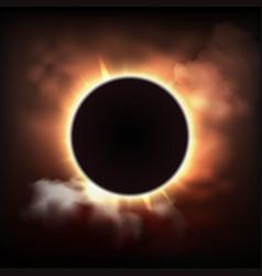 Total sun eclipse vector