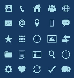 Contact color icons on blue background vector image