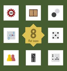 Flat icon entertainment set of poker dice vector