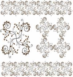 flower and floral border design vector image vector image