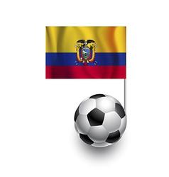 Soccer Balls or Footballs with flag of Ecuador vector image