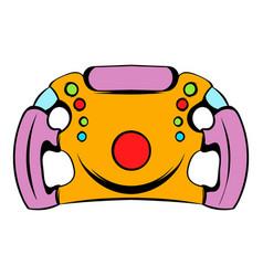 steering wheel icon icon cartoon vector image