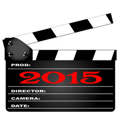 2015 clapper board vector