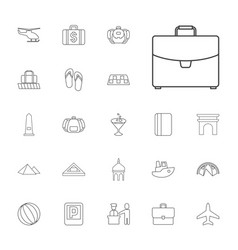 22 tourism icons vector