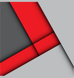 abstract red arrow gray design vector image