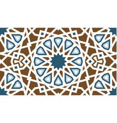 Arabic ethnic tilemosaic seamless pattern vector