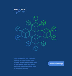 blockchain like future technology layout vector image